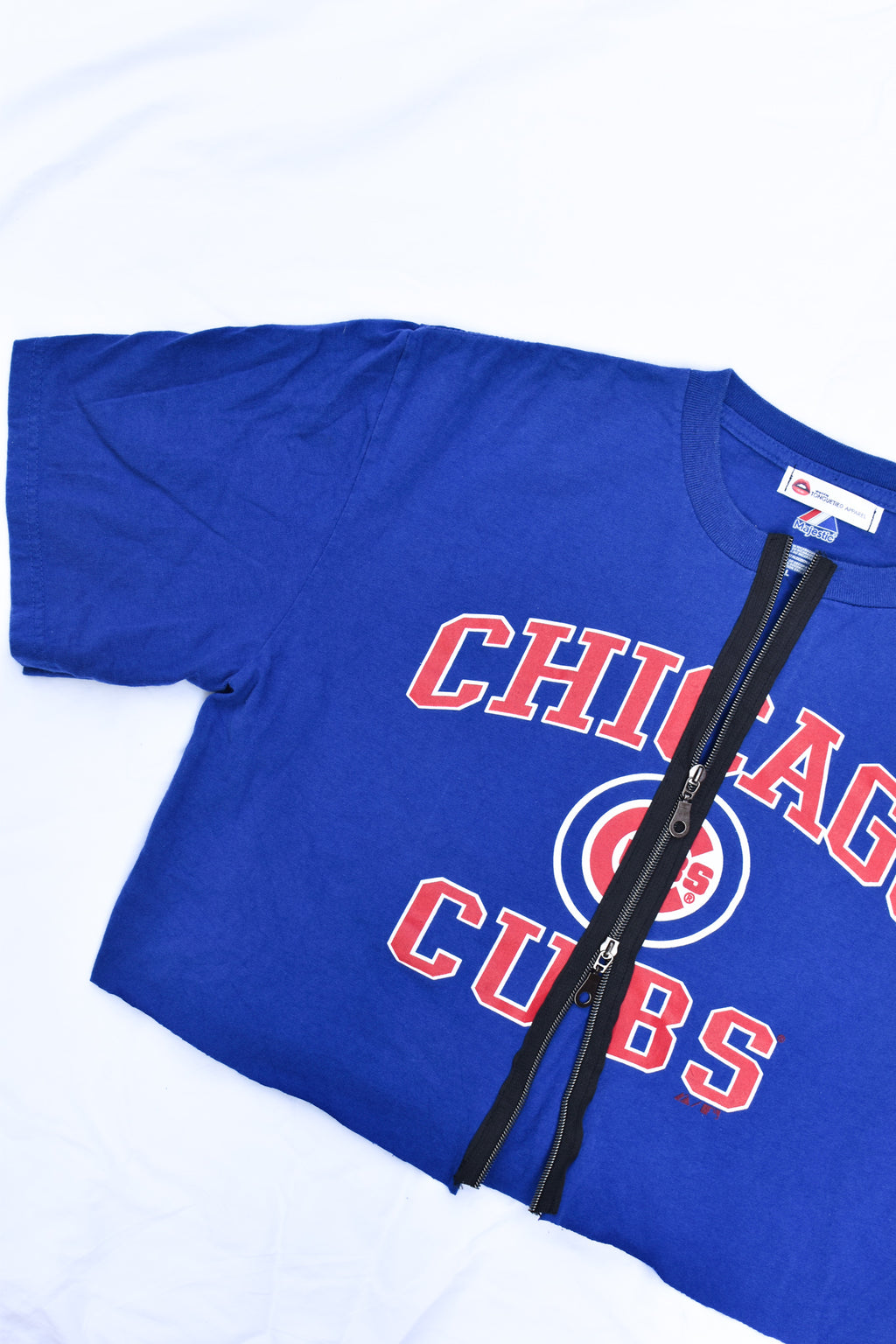 Upcycled Cubs Double Zipper Shirt