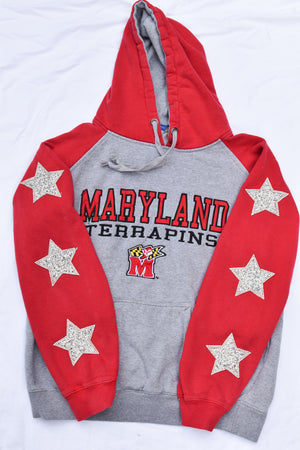 Upcycled Maryland Star Rhinestone Sweatshirt