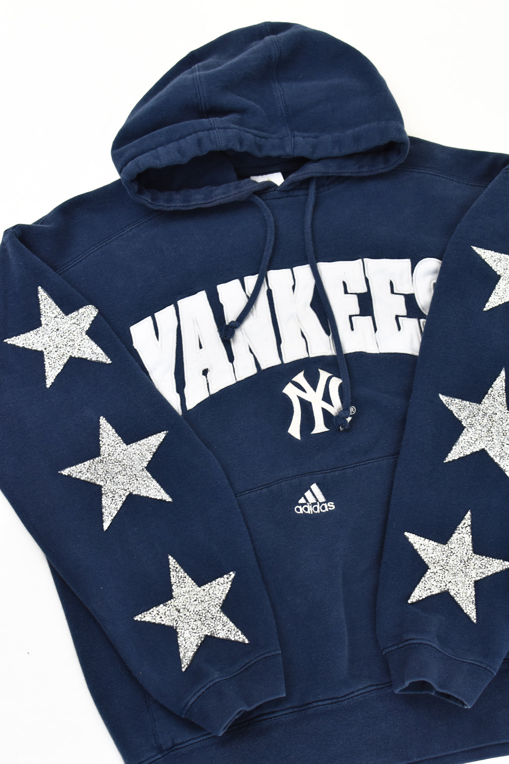 Upcycled Vintage New York Yankees Star Rhinestone Sweatshirt