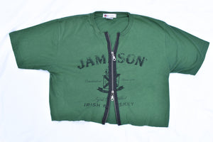 Upcycled Jameson Double Zipper Shirt