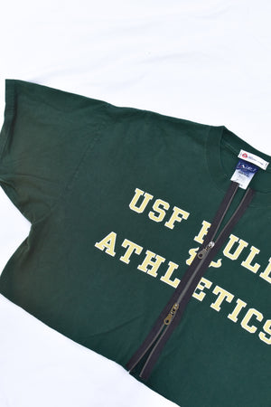 Upcycled USF Double Zipper Shirt
