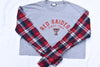 Upcycled Texas Tech Cropped Flannel Sleeve Shirt