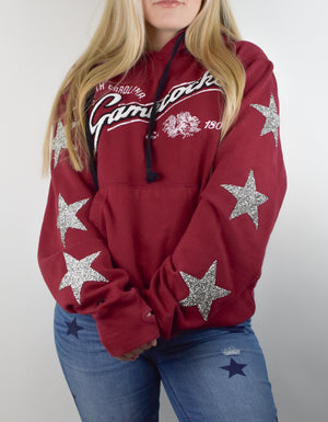 Upcycled South Carolina Star Rhinestone Sweatshirt