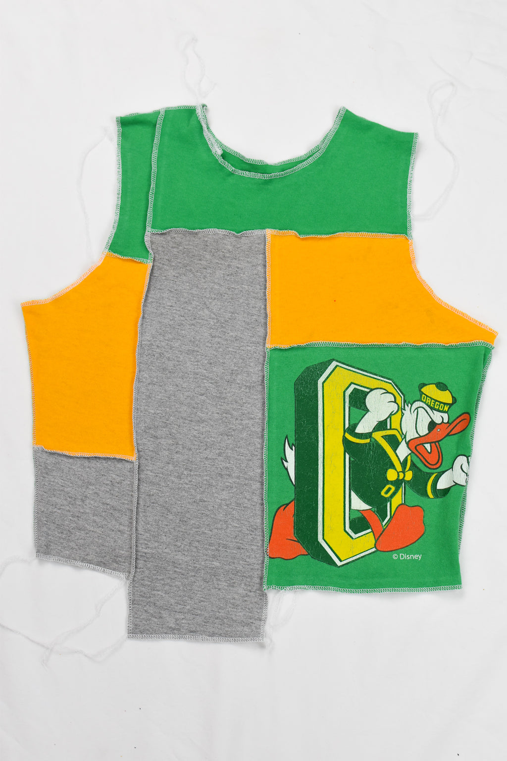 Upcycled Nationals Flannel Sleeve Sweatshirt