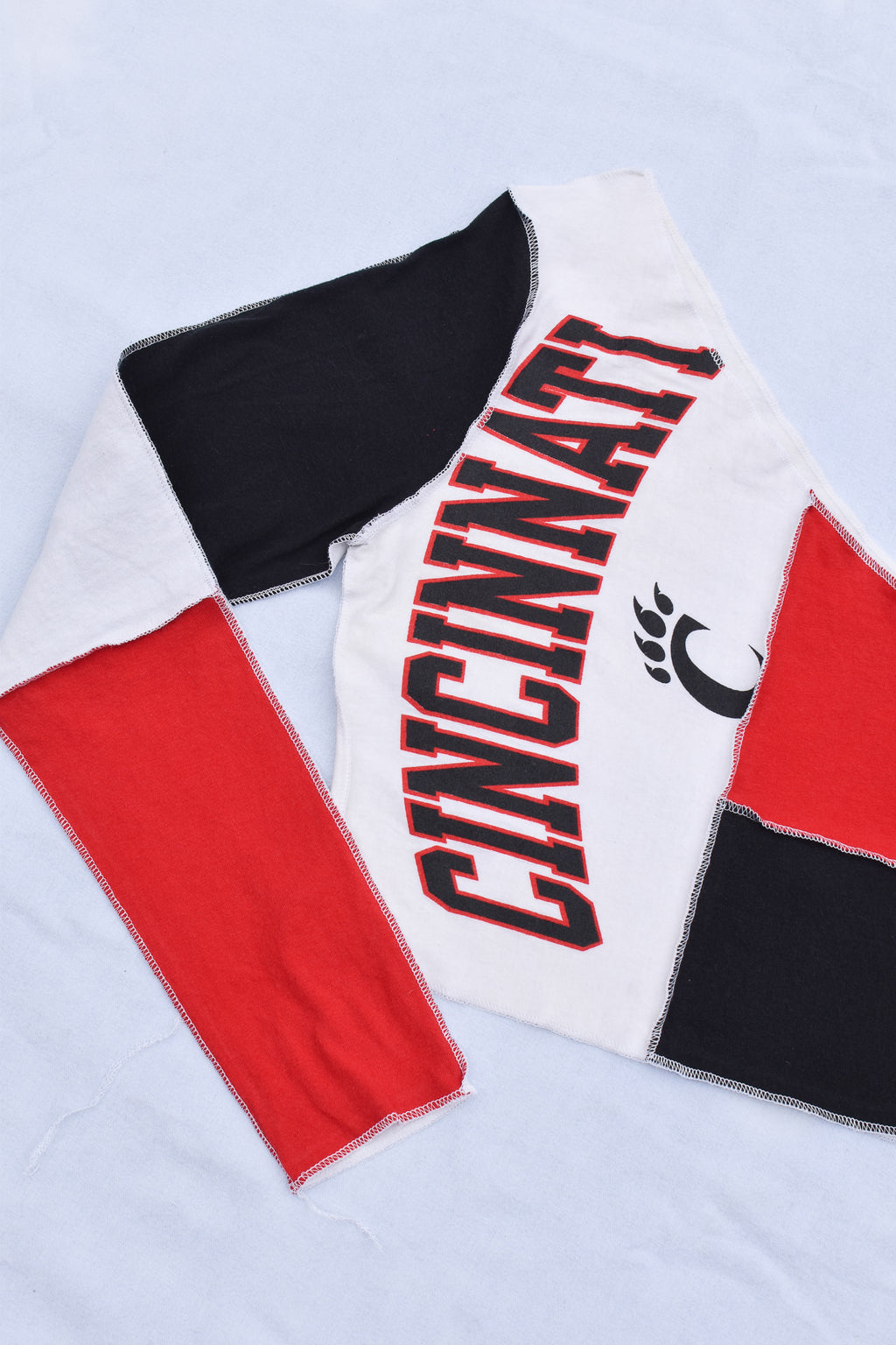 Upcycled Red Wings Chain Shirt