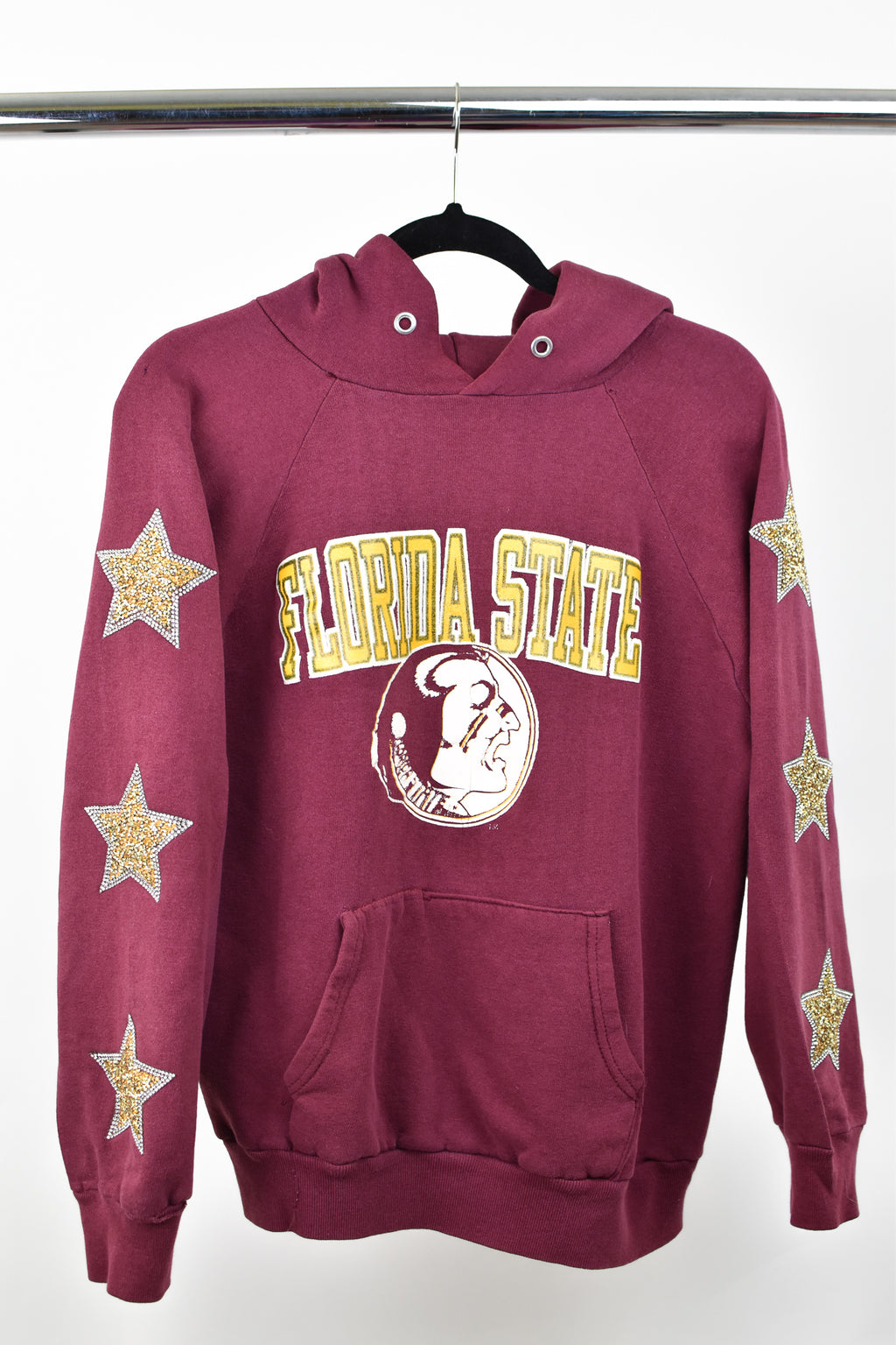 Upcycled VINTAGE Florida State University Star Rhinestone Sweatshirt