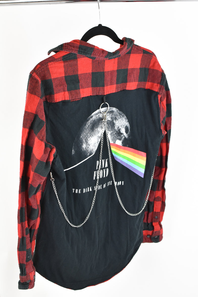 Upcycled Pink Floyd Reverse Chain Rock Top