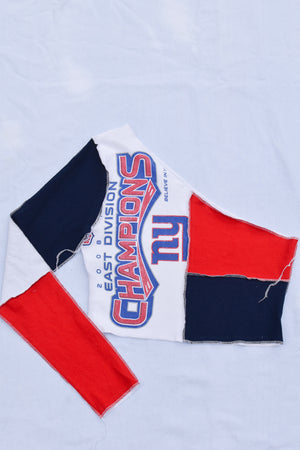 Upcycled Capitals Flannel Sleeve Sweatshirt