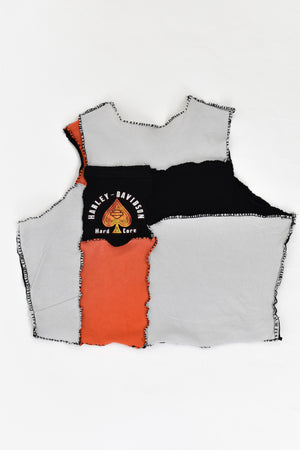 Upcycled Harley Davidson Scrappy Top
