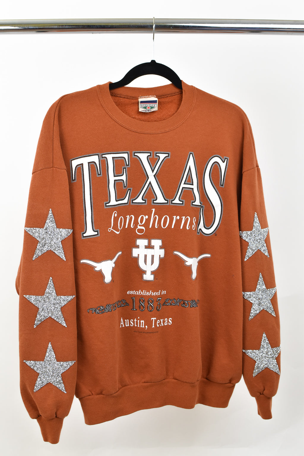 Upcycled VINTAGE University of Texas Star Rhinestone Sweatshirt