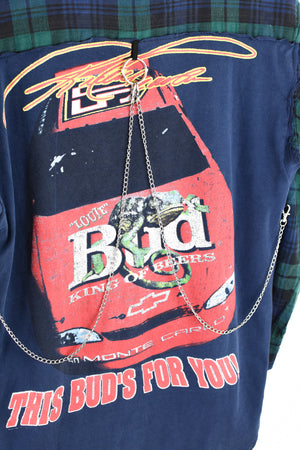 Upcycled Nascar/Bud Light Reverse Chain Rock Top