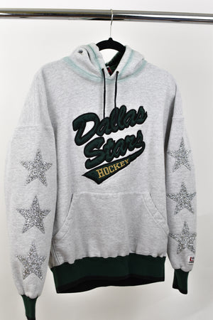 Upcycled VINTAGE Dallas Stars Star Rhinestone Sweatshirt