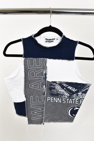 Upcycled Penn State Scrappy Top