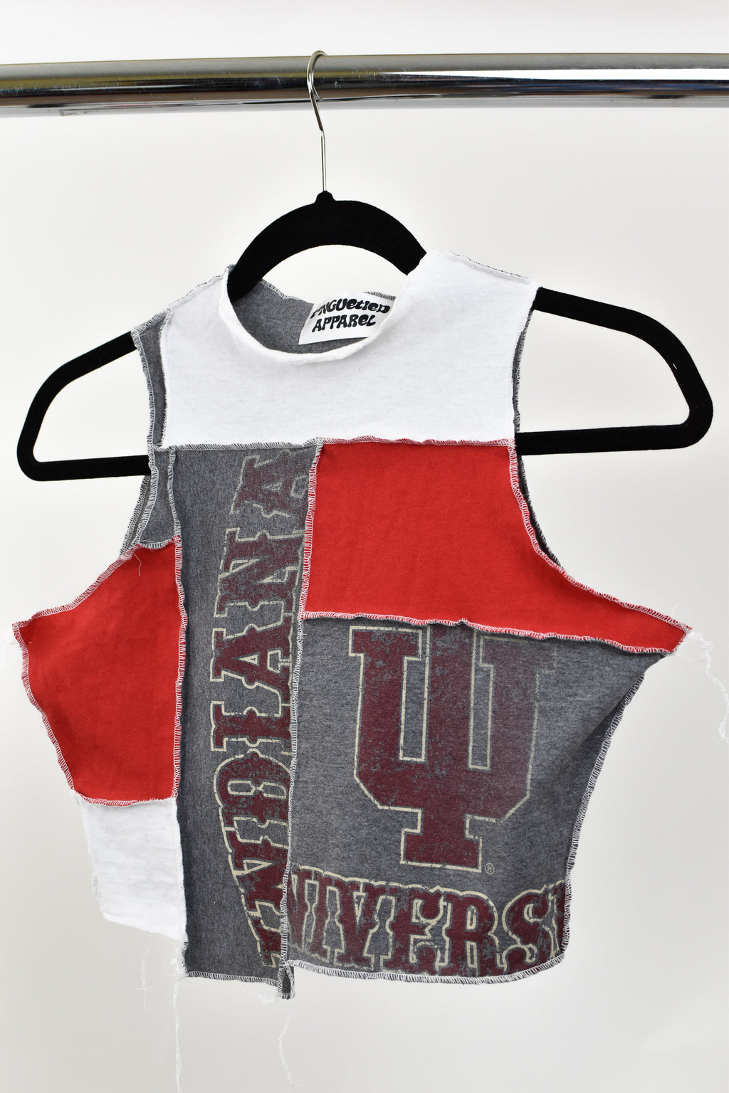 Upcycled Indiana University Scrappy Top