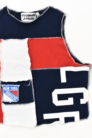 Upcycled New York Rangers Scrappy Top