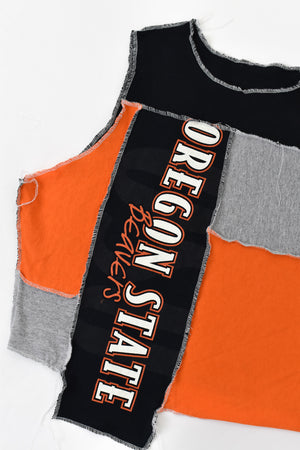 Upcycled Oregon State University Scrappy Top