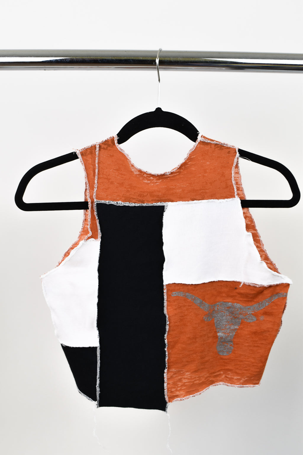 Upcycled University of Texas Scrappy Top