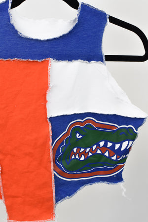 Upcycled University of Florida Scrappy Top