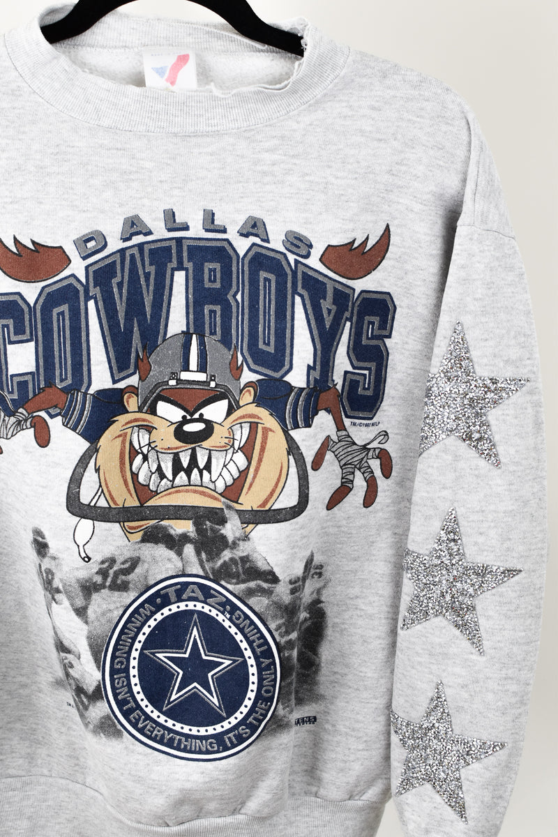 Upcycled VINTAGE Dallas Cowboys Star Rhinestone Sweatshirt