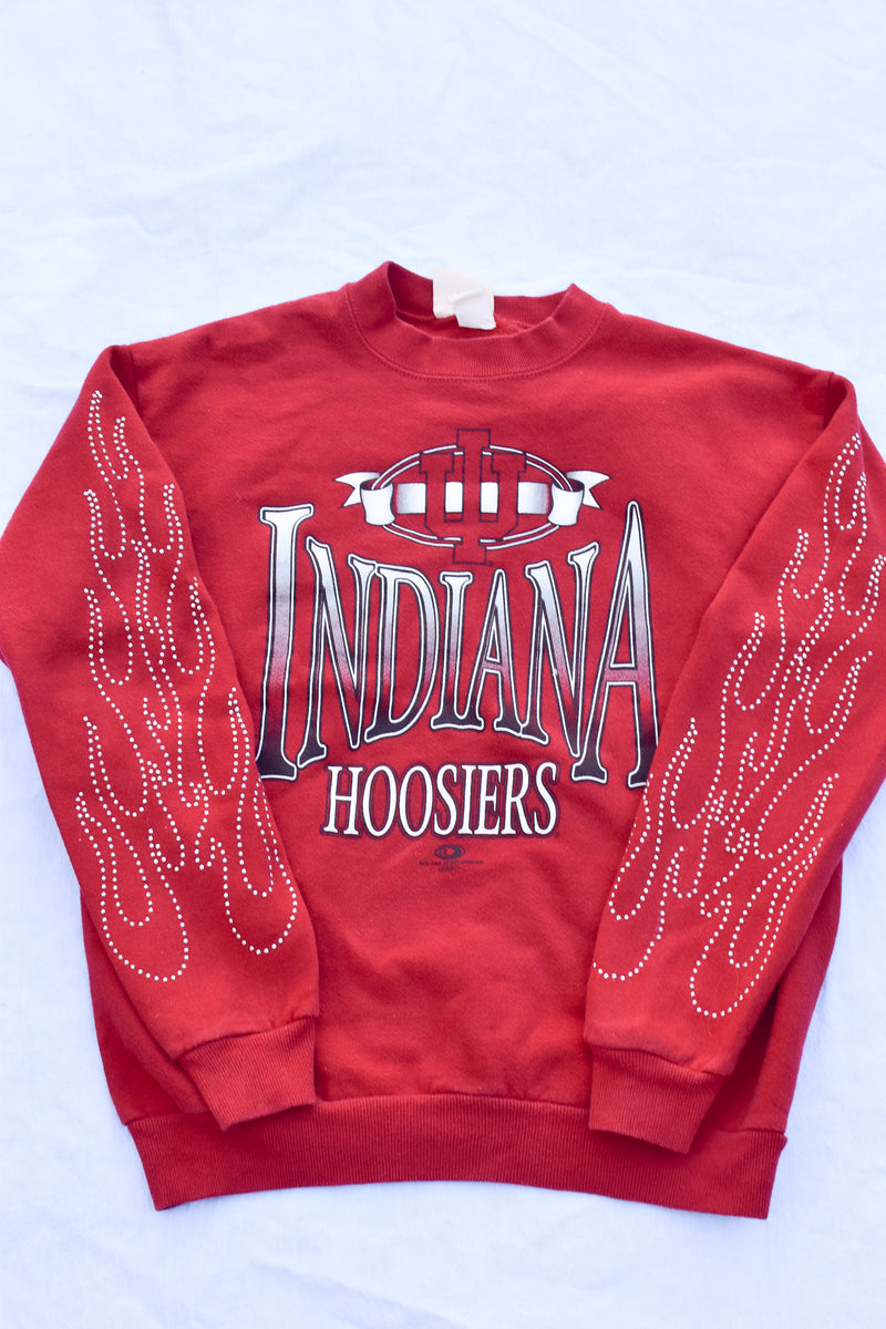 Upcycled Wisconsin Rhinestone Chain Shirt