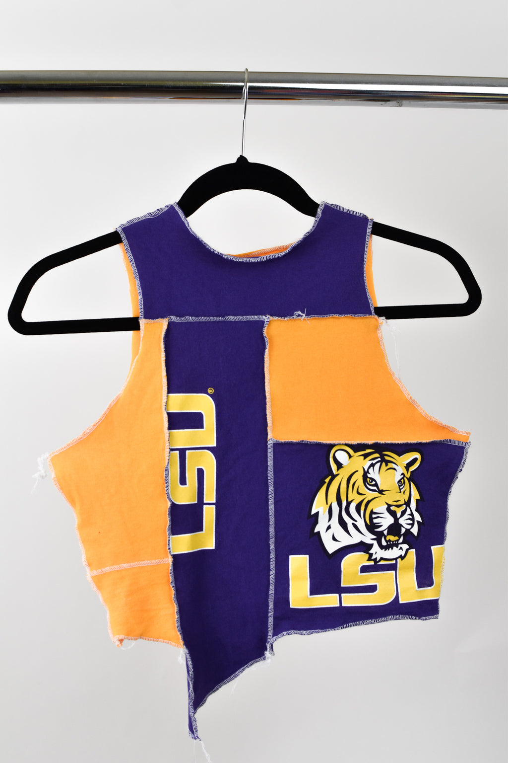 Upcycled Louisiana State University Scrappy Top