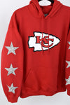 Upcycled Kansas City Chiefs Star Rhinestone Sweatshirt