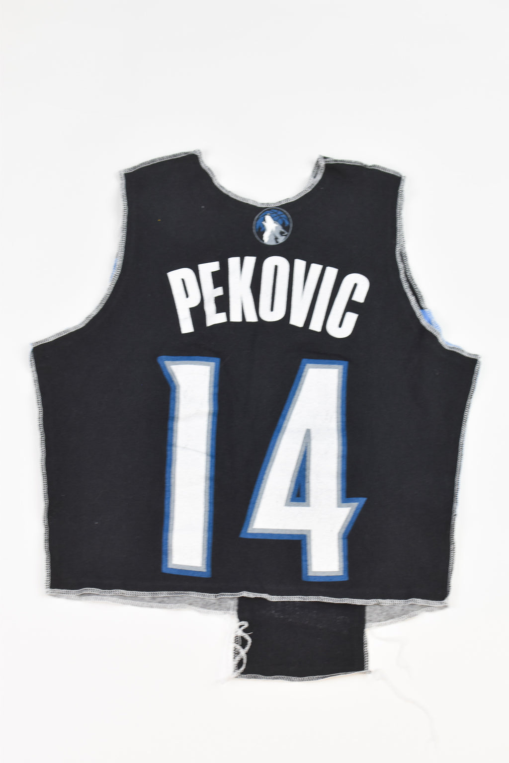 Upcycled Red Sox Denim Handkerchief Top