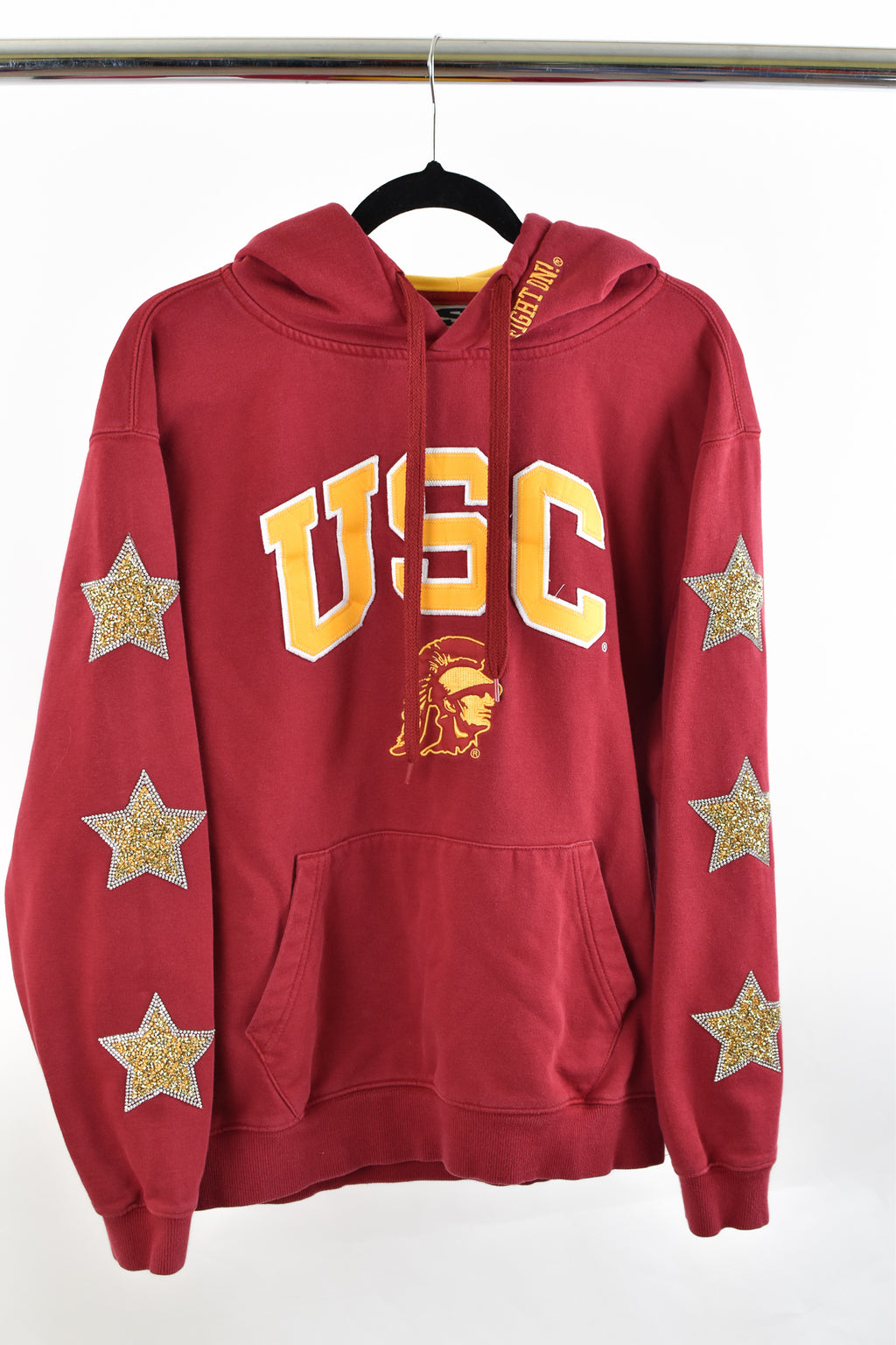 Upcycled University of Southern California Star Rhinestone Sweatshirt