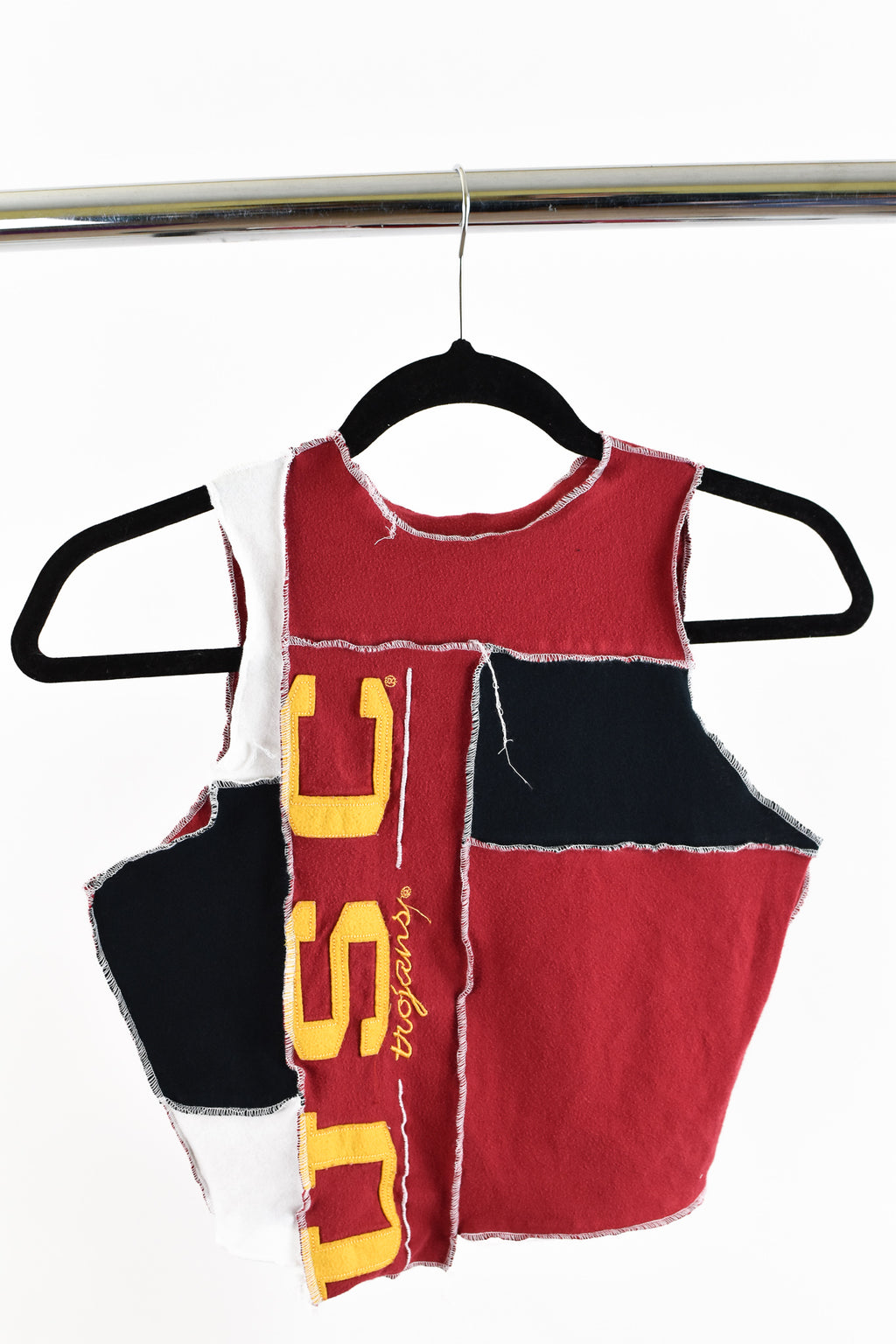 Upcycled University of Southern California Scrappy Top