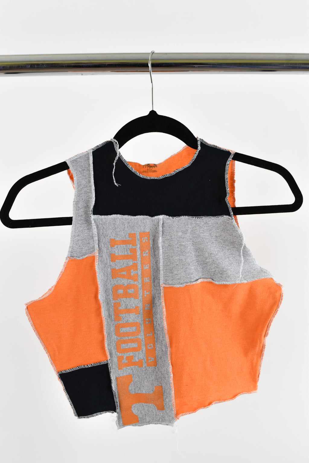 Upcycled University of Tennessee Scrappy Top