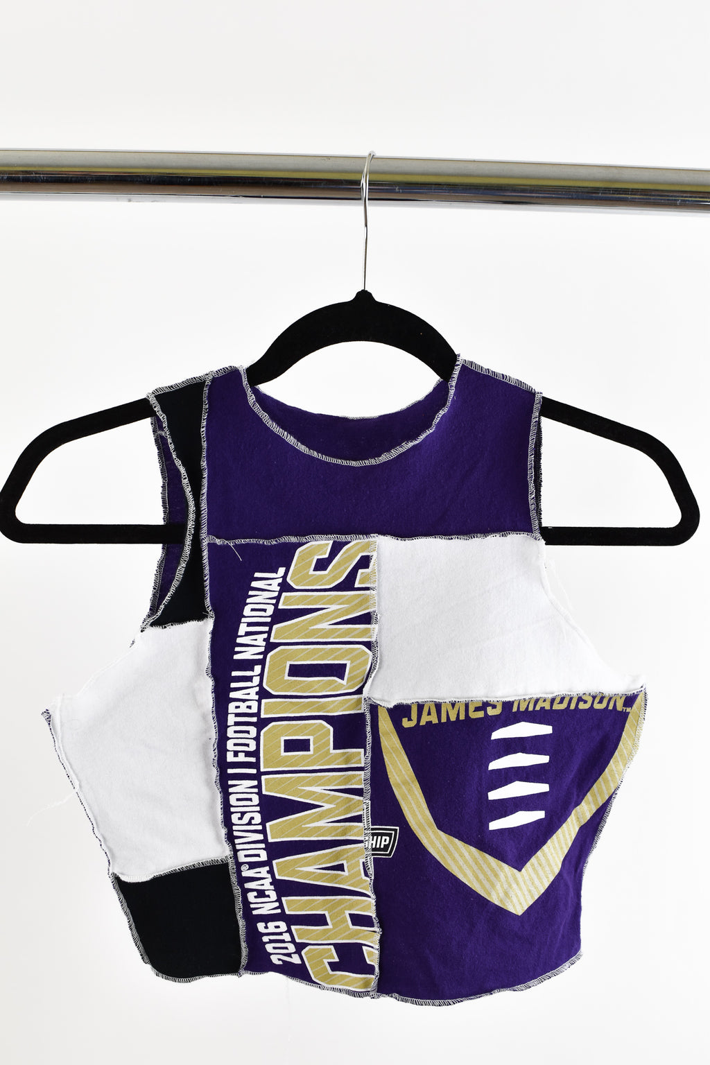 Upcycled JMU Scrappy Top