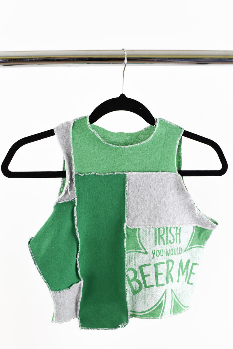 Upcycled St. Patricks Day Scrappy Top