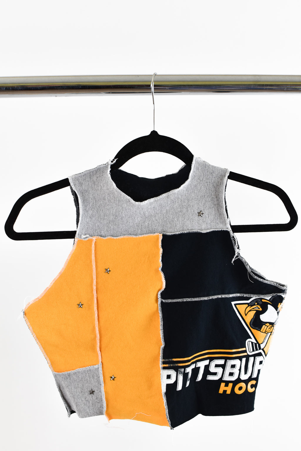 Upcycled Pittsburgh Penguins Scrappy Top