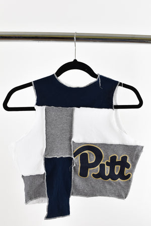 Upcycled University of Pittsburgh Scrappy Top