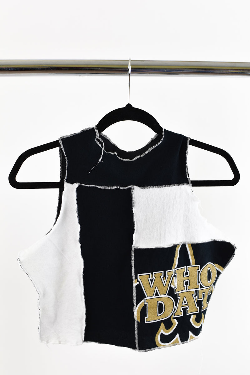 Upcycled New Orleans Saints Scrappy Top