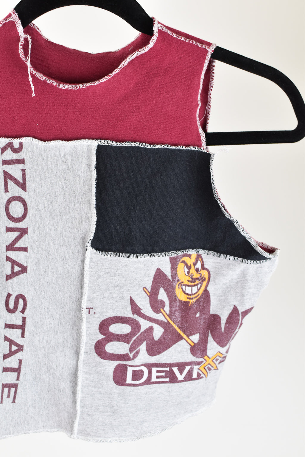 Upcycled Texas A&M Denim Handkerchief Top
