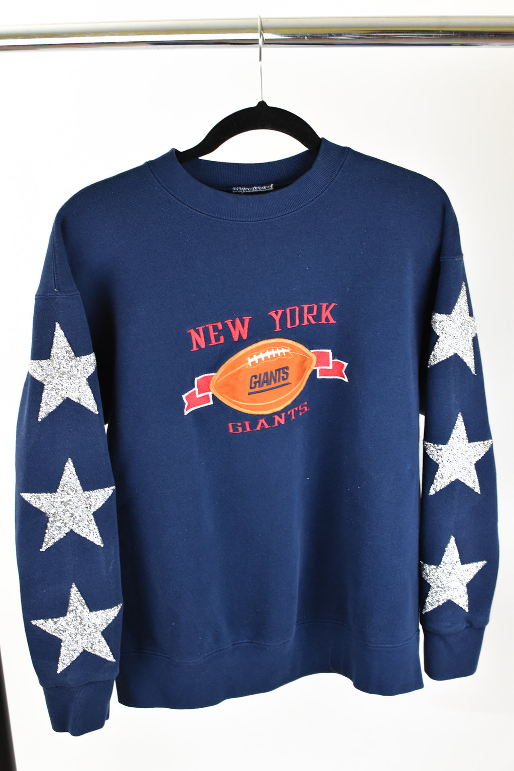 Upcycled VINTAGE New York Giants Star Rhinestone Sweatshirt