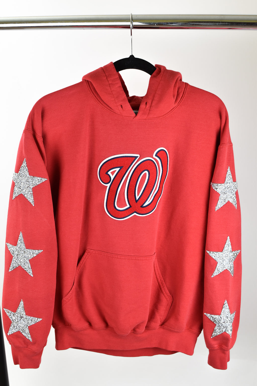 Upcycled Washington Nationals Star Rhinestone Sweatshirt