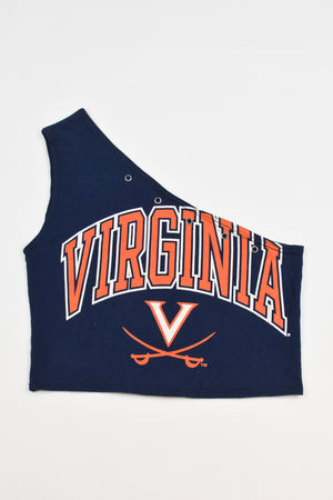 Upcycled Patriots Denim Handkerchief Top