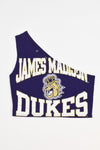 Upcycled Vintage Penguins Denim Sleeve Sweatshirt - Custom for Emma