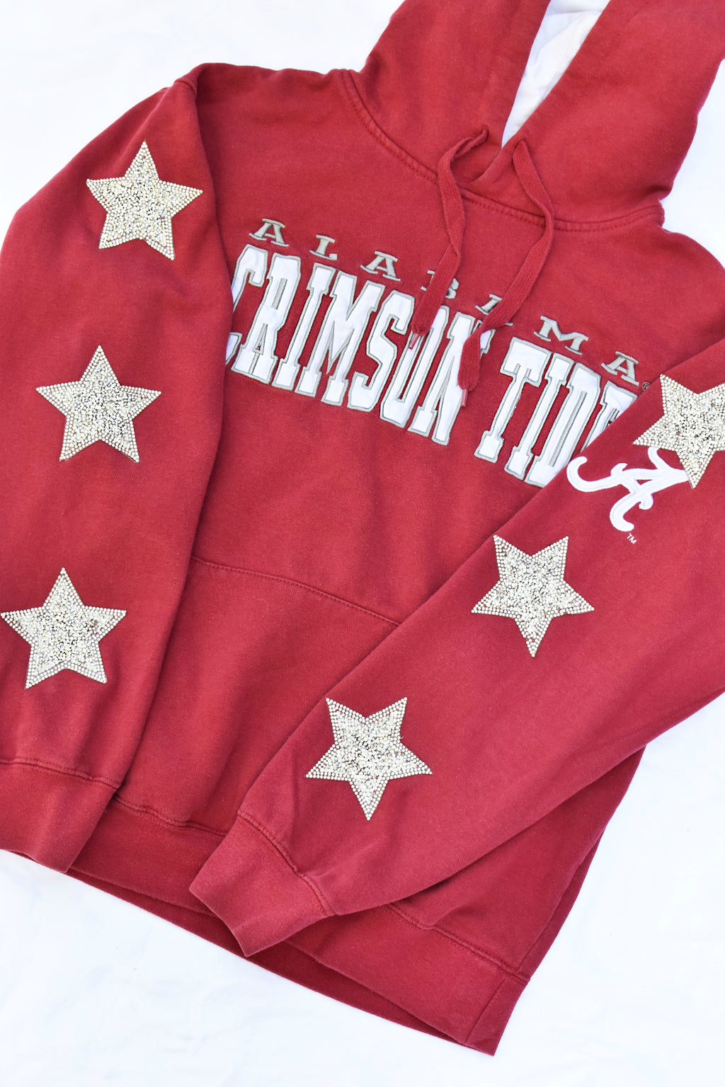 Upcycled Alabama Star Rhinestone Sweatshirt