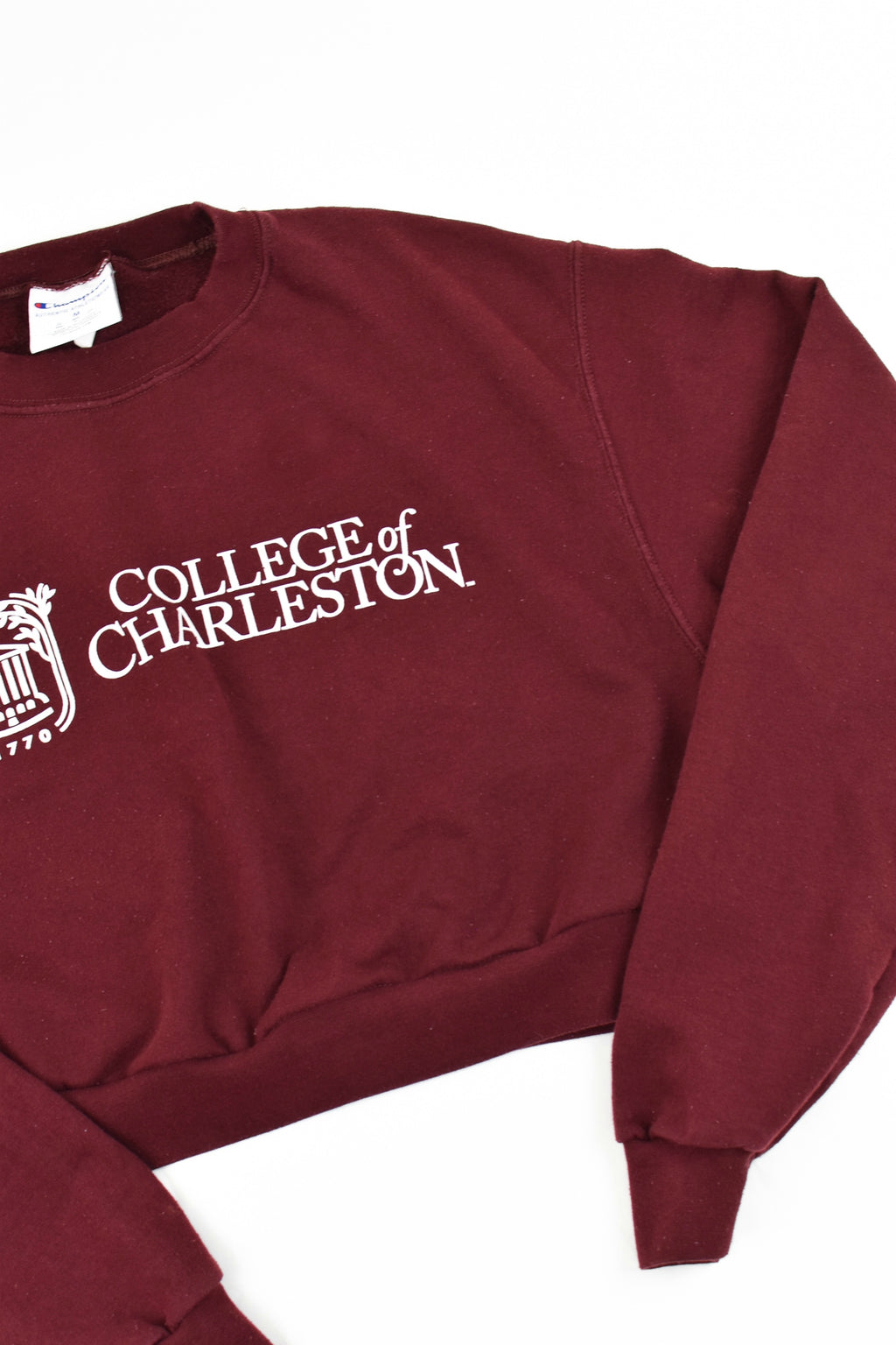 Upcycled College of Charleston Cropped Sweatshirt