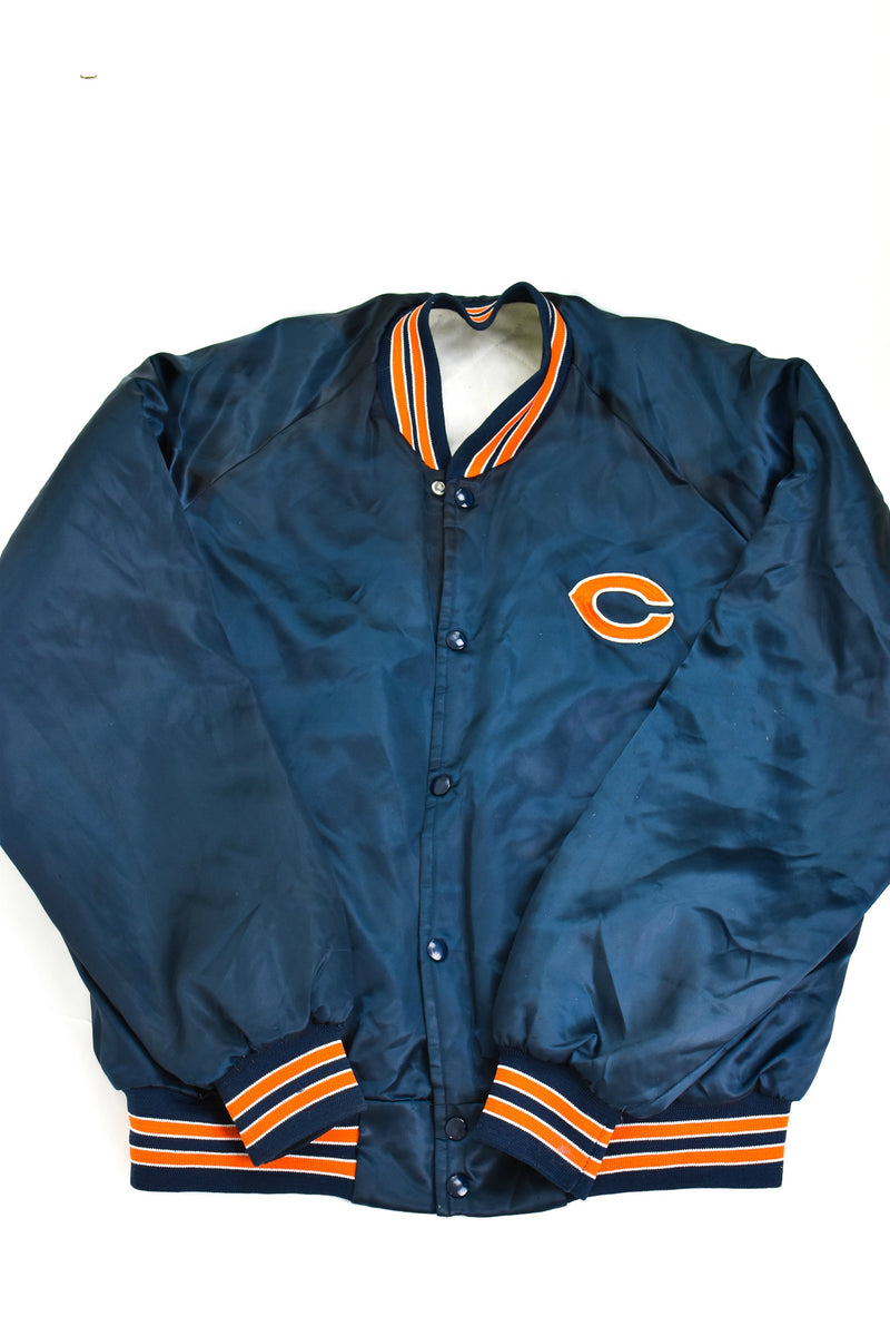 Upcycled VINTAGE Chicago Bears Satin Jacket