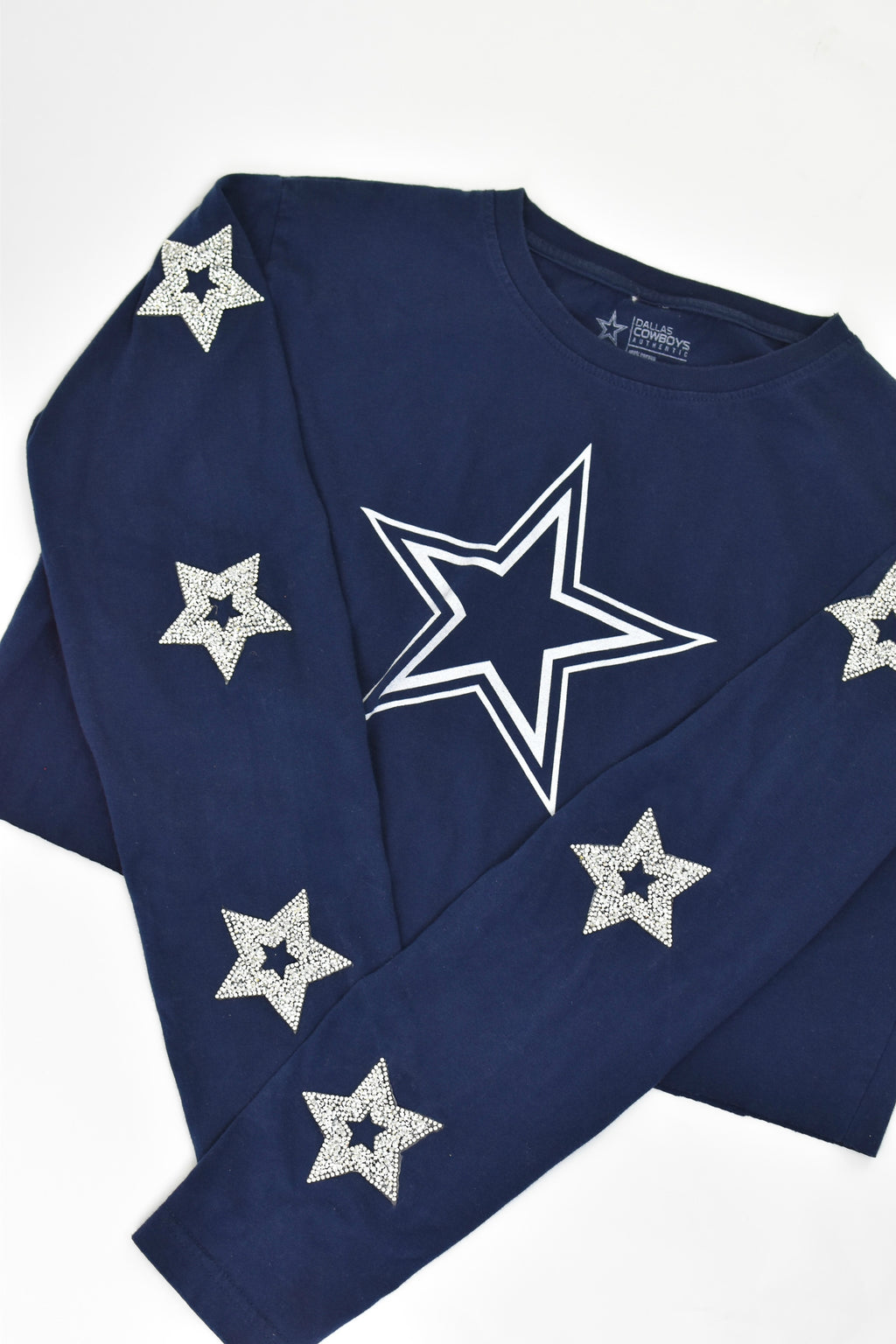 Upcycled Vintage Cowboys Flannel Sweatshirt
