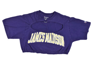 Upcycled JMU Cutout Ring Top