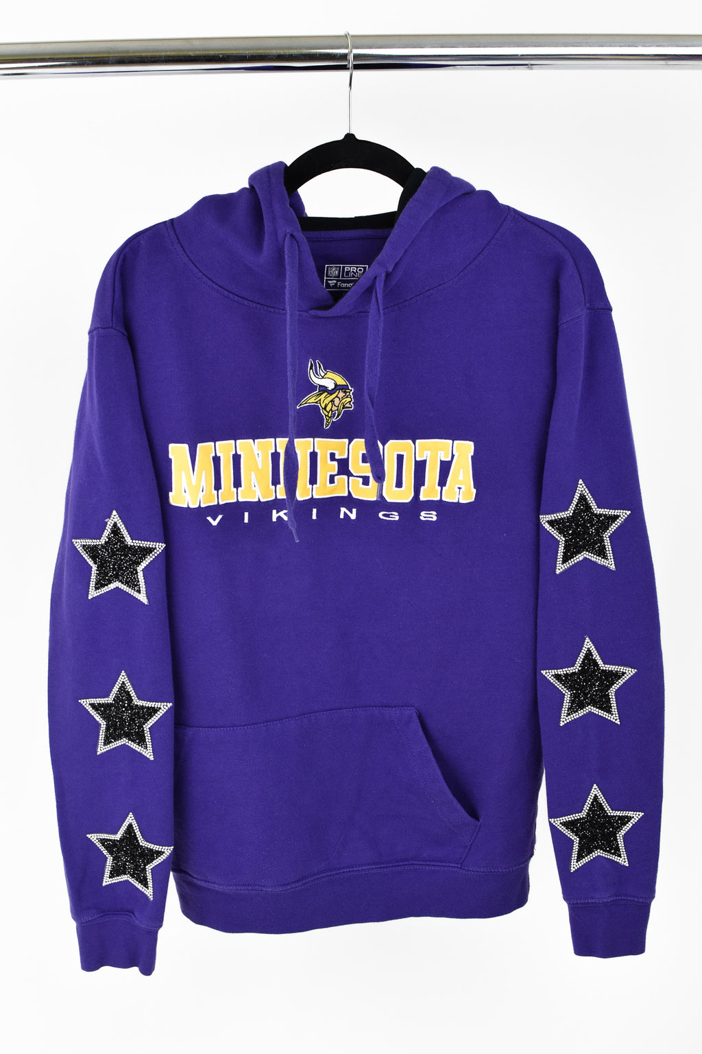 Upcycled Minnesota Vikings Star Rhinestone Sweatshirt