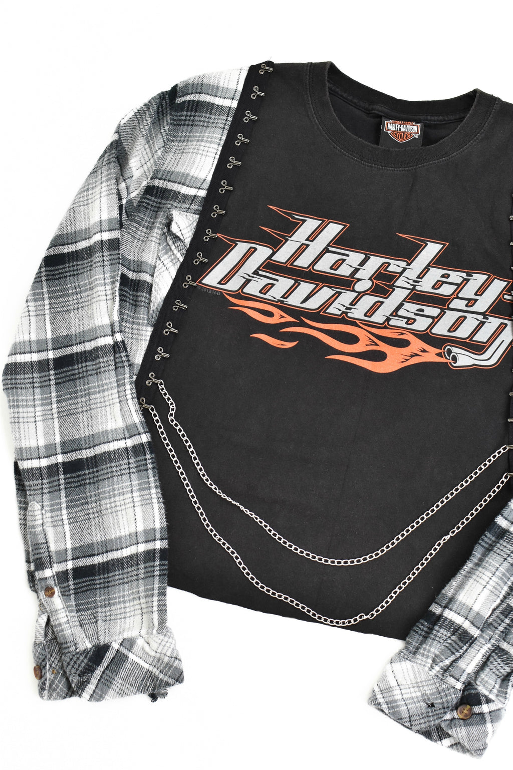 Upcycled Harley Davidson Chain Rock Top