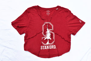 Upcycled Stanford Rough Hem Top