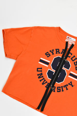 Upcycled Syracuse University Double Zipper Shirt
