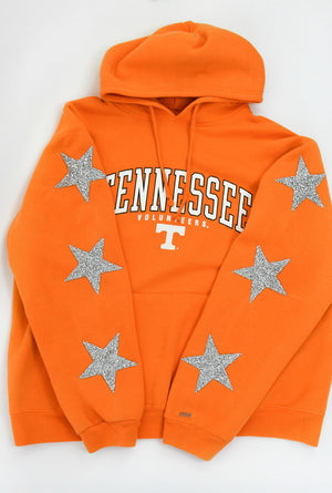 Upcycled VINTAGE University of Tennessee Star Rhinestone Sweatshirt